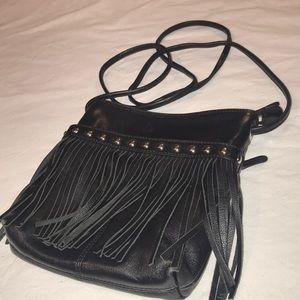 New York Genuine Leather Crossbody Bag/ Fringes